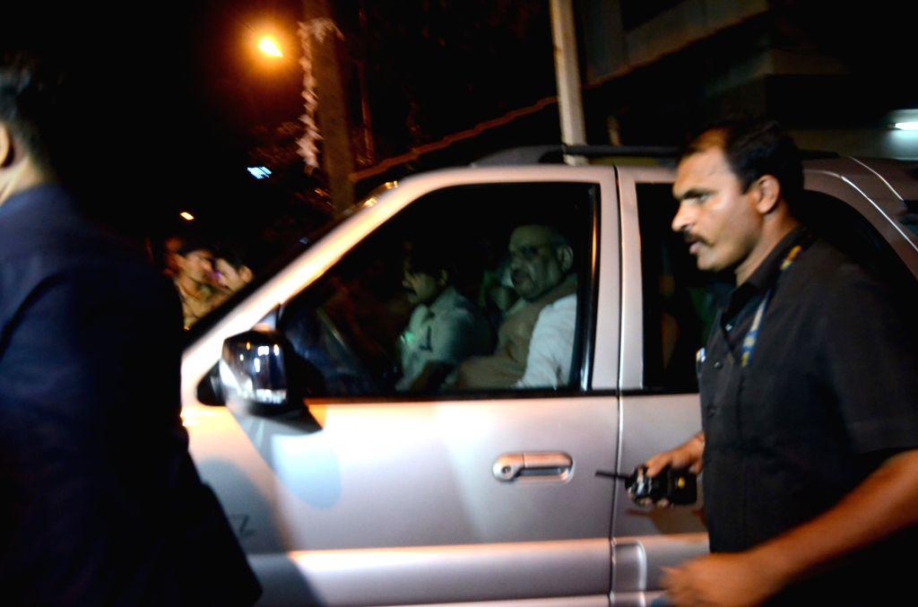 BJP chief Amit Shah arrives to meet Shiv Sena chief Uddhav Thackeray in Mumbai, on June 6, 2018. - Amit Shah