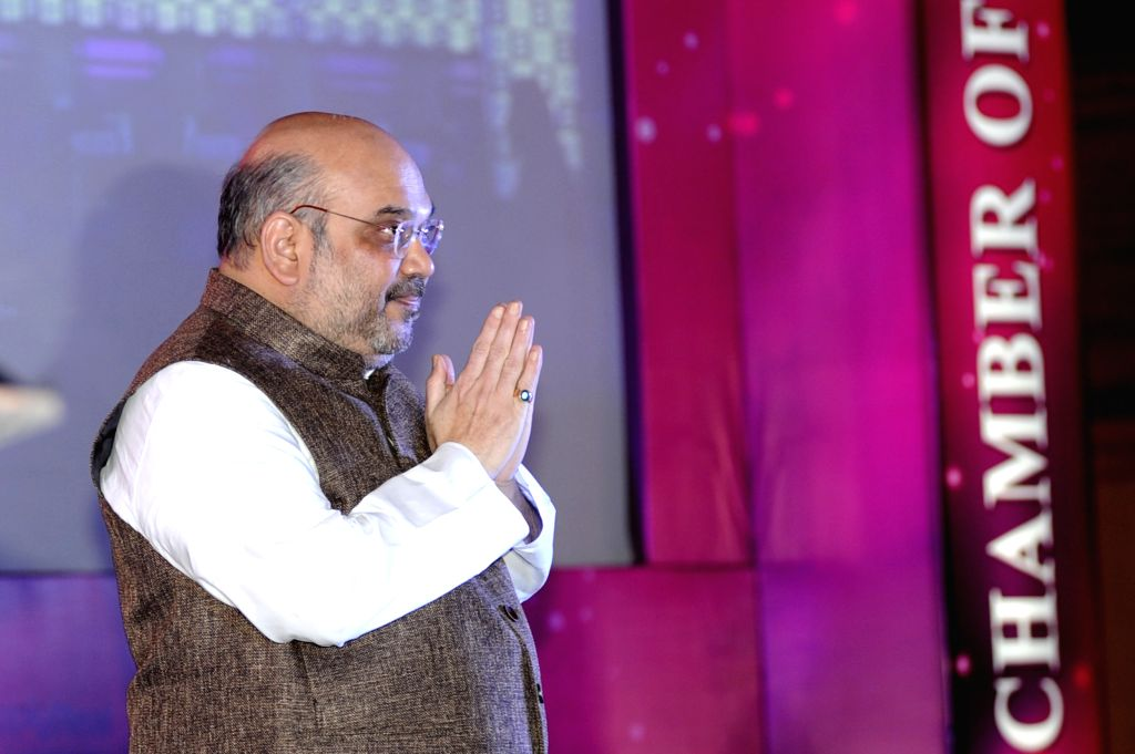 BJP chief Amit Shah during a programme organised by the Indian Chamber of Commerce in Kolkata, on Aug 12, 2015.