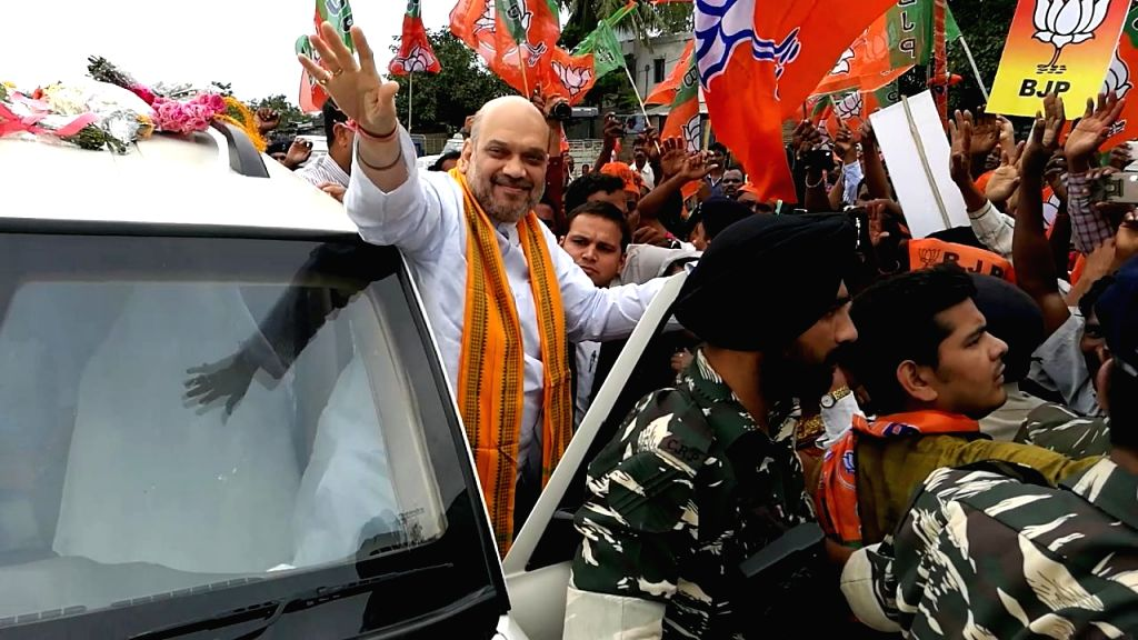 BJP chief Amit Shah during his visit to Berhampur of Odisha's Ganjam district on July 4, 2017. - Amit Shah