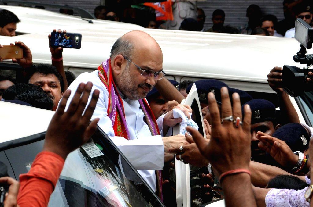 BJP chief Amit Shah visits Swami Vivekananda's Ancestral House in Kolkata on Sept 11, 2017. - Amit Shah