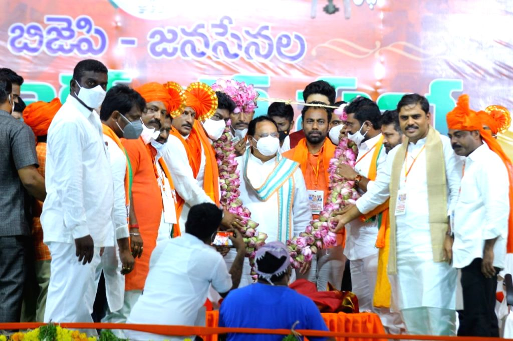 BJP chief JP Nadda alleges 'state-sponsored' religious conversion in Andhra Pradesh.