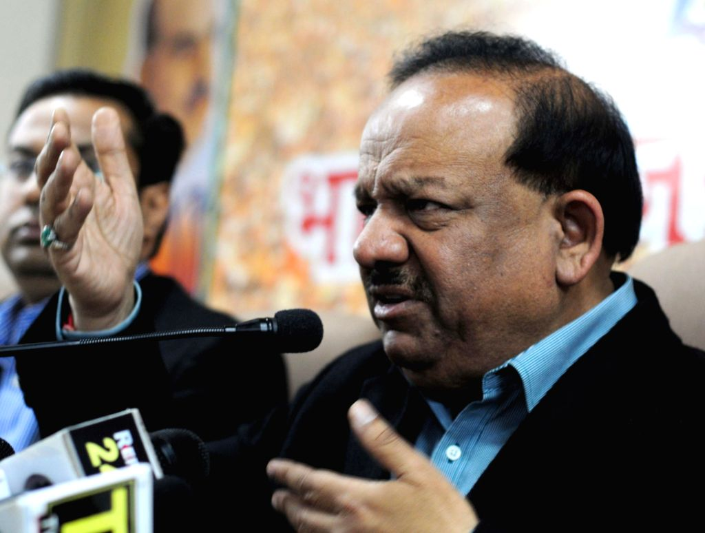 BJP Chief Ministerial candidate for Delhi Harsh Vardhan addresses a press conference in New Delhi on Dec.18, 2013.