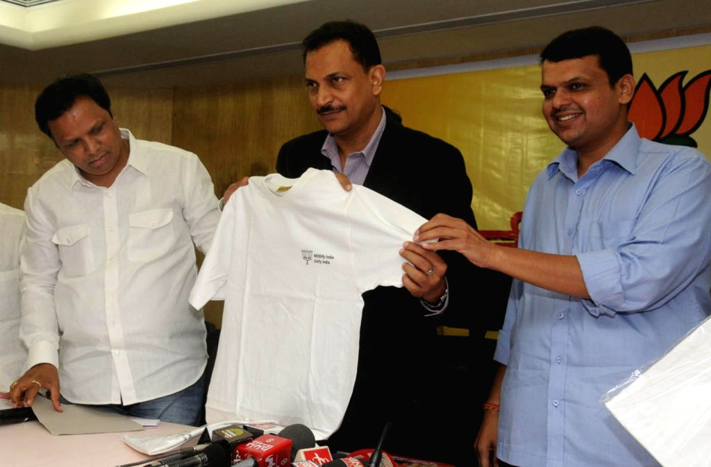 BJP General Secretary Rajiv Pratap Rudy and party's President for Maharashtra Devendra Fadnavis oversee the preparations for party's Prime Ministerial candidate and Gujarat Chief Minister .. - Narendra Modis
