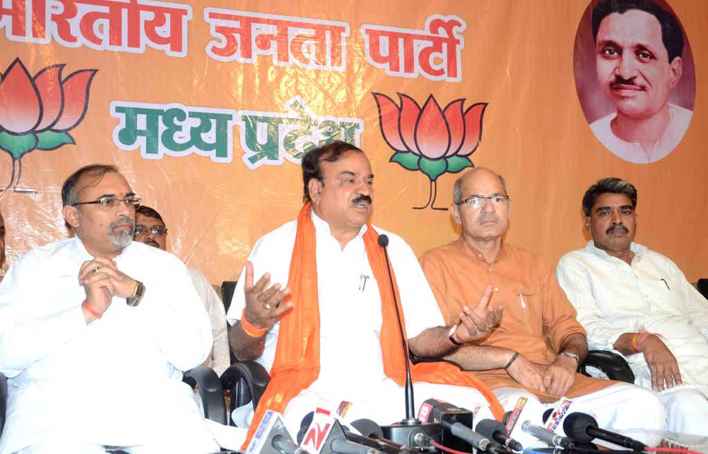 BJP leader Ananth Kumar during a press conference in Bhopal on April 18, 2014.