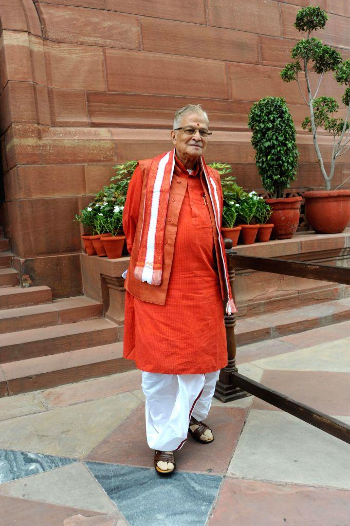 BJP leader and Kanpur MP Murli Manohar Joshi at the Parliament on Aug 5, 2014. - Murli Manohar Joshi