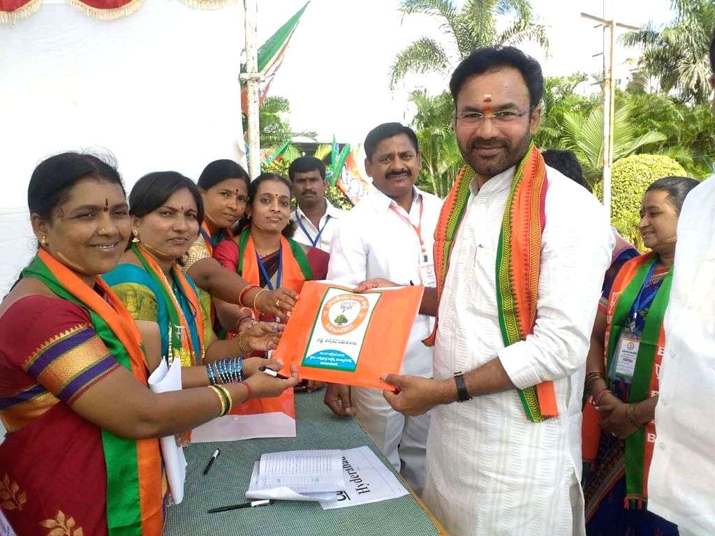 BJP leader G Kishan Reddy during a party programme in Hyderabad on Oct 7, 2016. - G Kishan Reddy