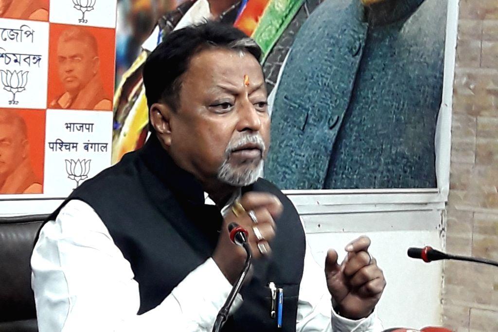 BJP leader Mukul Roy addresses a press conference in Kolkata Feb 10, 2019. - Mukul Roy