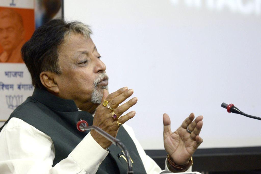 BJP leader Mukul Roy. (Photo: IANS) - Mukul Roy