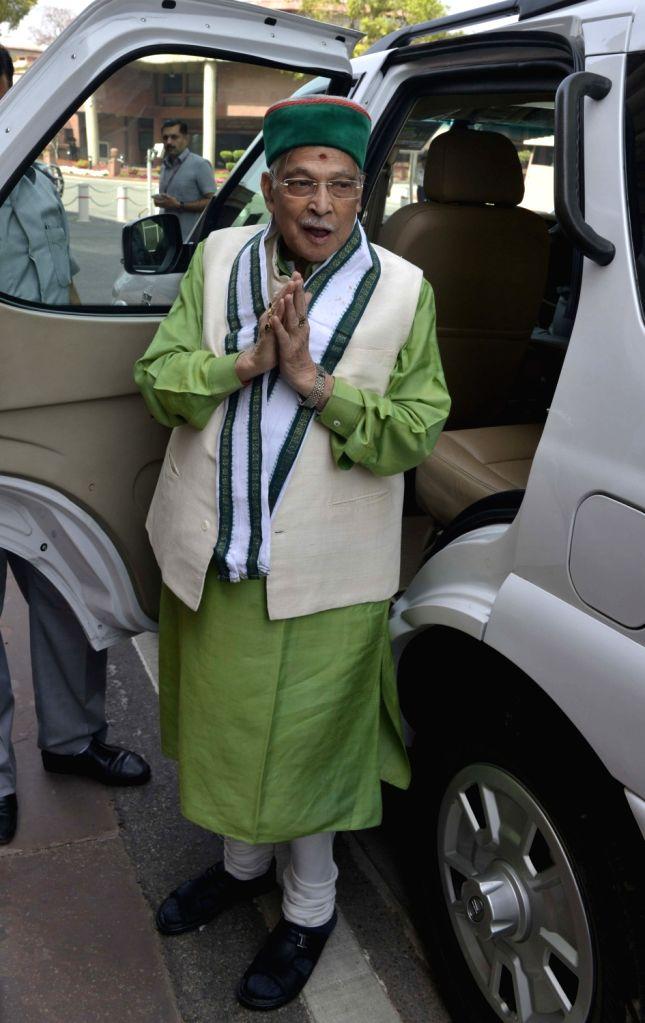 BJP leader Murli Manohar Joshi at Parliament in New Delhi on Feb 15, 2017. - Murli Manohar Joshi