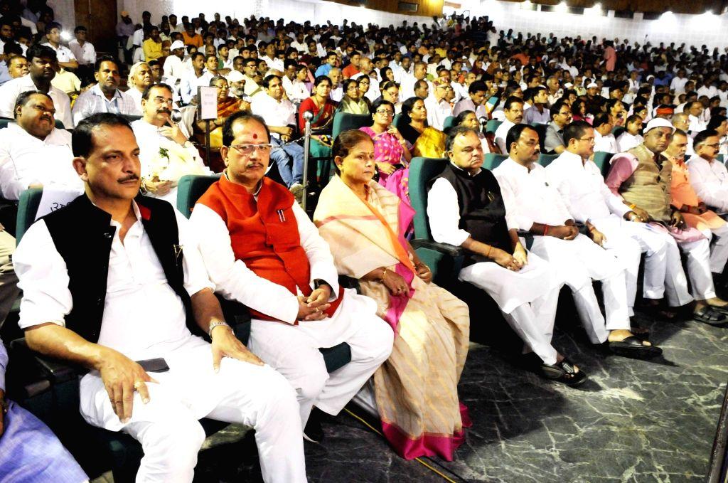 BJP leader Rajiv Pratap Rudy during a prayer meeting organised in the memory of former Prime Minister Late Atal Bihari Vajpayee, in Patna on Aug 21, 2018. - Late Atal Bihari Vajpayee