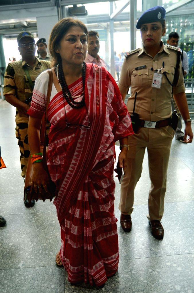 BJP leader Roopa Ganguly at Netaji Subhash Chandra Bose International Airport in Kolkata, on May 25, 2019.