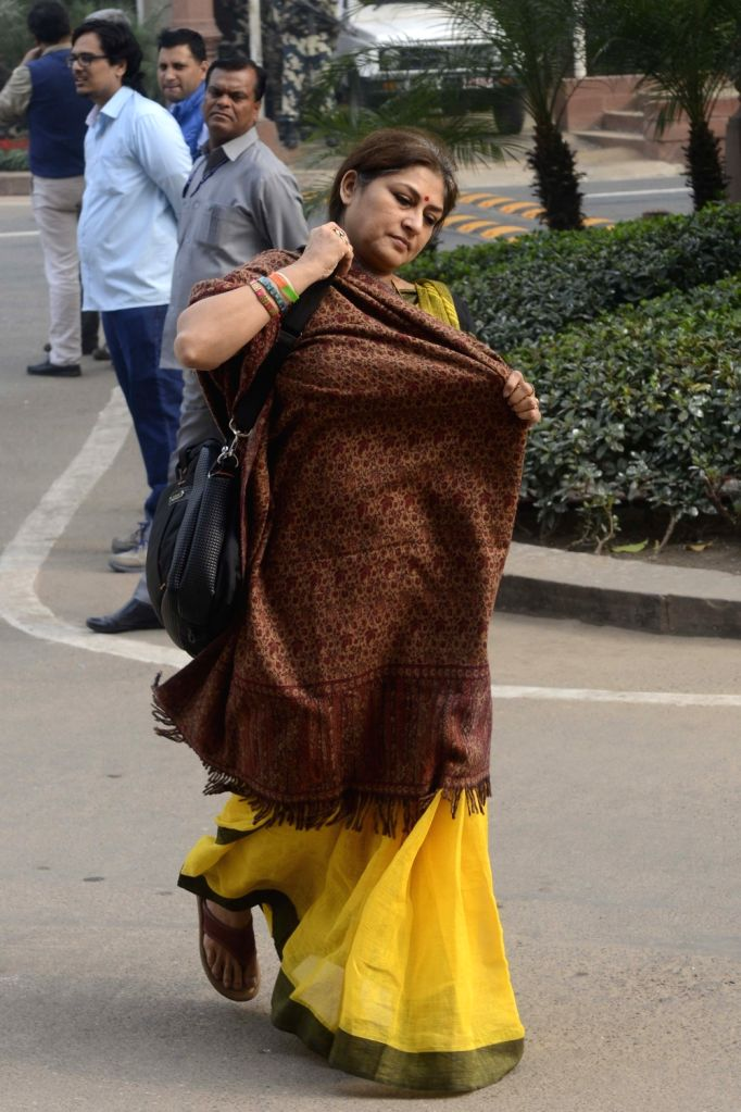 BJP leader  Roopa Ganguly at Parliament in New Delhi on Dec 1, 2016.