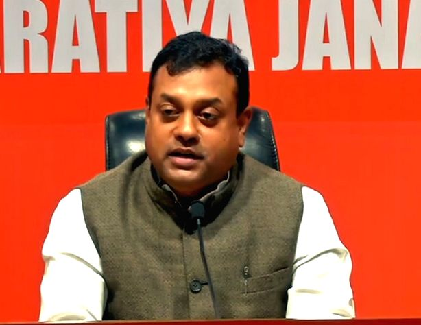 BJP leader Sambit Patra addresses a press conference at the party's headquarter in New Delhi, on May 11, 2019.