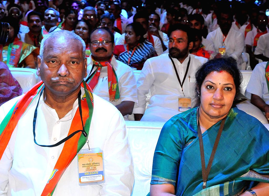 BJP leaders during a BJP South Zone district presidents and office bearers meet in Bengaluru on July 5, 2015.