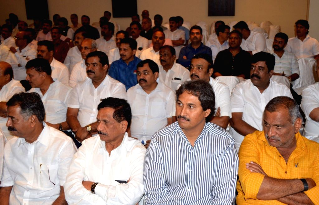 BJP leaders during party's legislative meeting in Bengaluru on July 28, 2019.