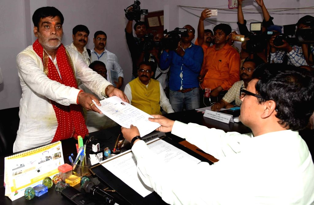 BJP Lok Sabha candidate from Pataliputra constituency, Ram Kripal Yadav files his nomination for the forthcoming Lok Sabha polls, in Patna, on April 25, 2019. - Kripal Yadav