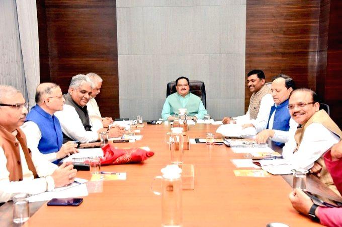 BJP meeting in head quarter.