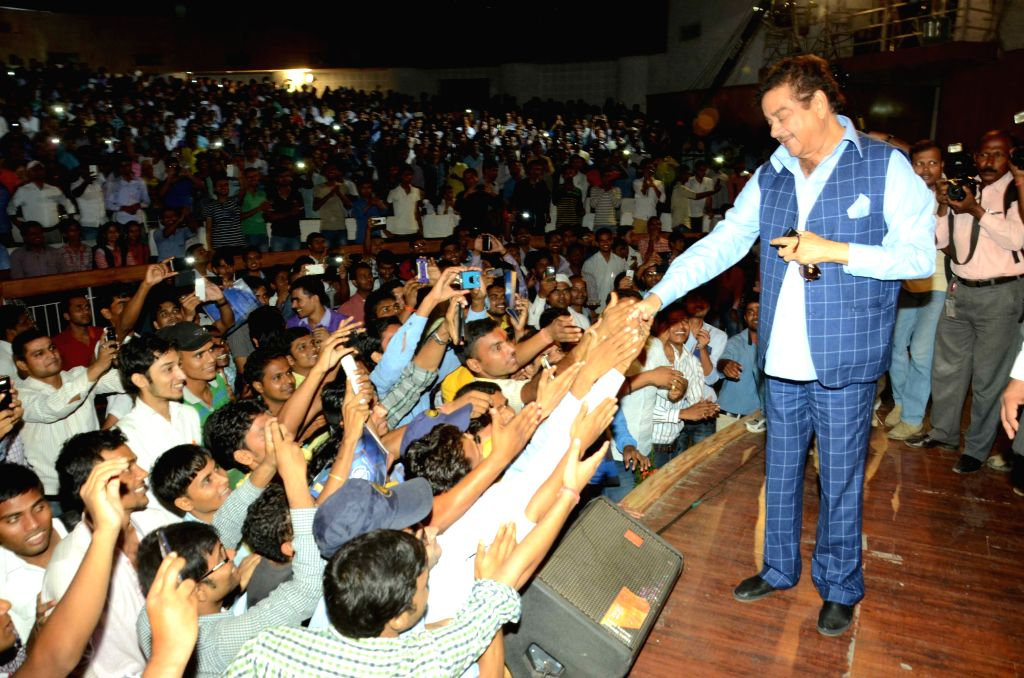 BJP MP and actor Shatrughan Sinha during a seminar in Patna, on Aug 10, 2015.