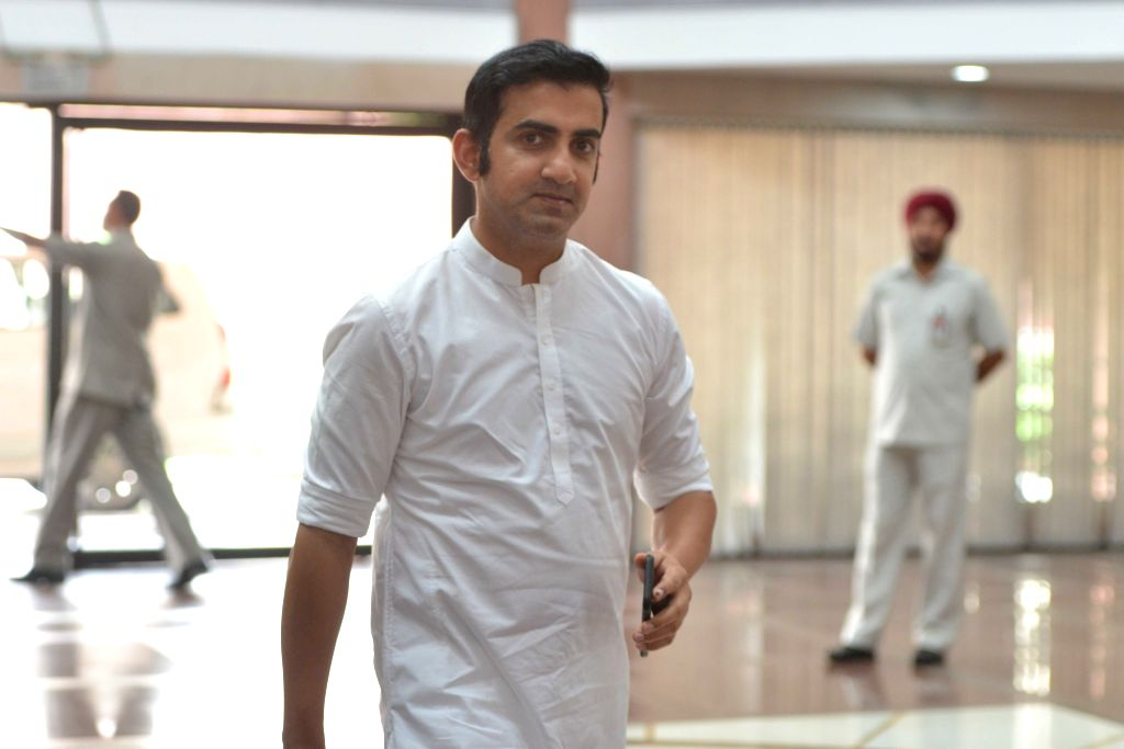 BJP MP Gautam Gambhir arrives to attend the two-day compulsory orientation programme 'Abhyas Varga' organised for all the newly-elected Members of Parliament of BJP in the Lok Sabha and ...
