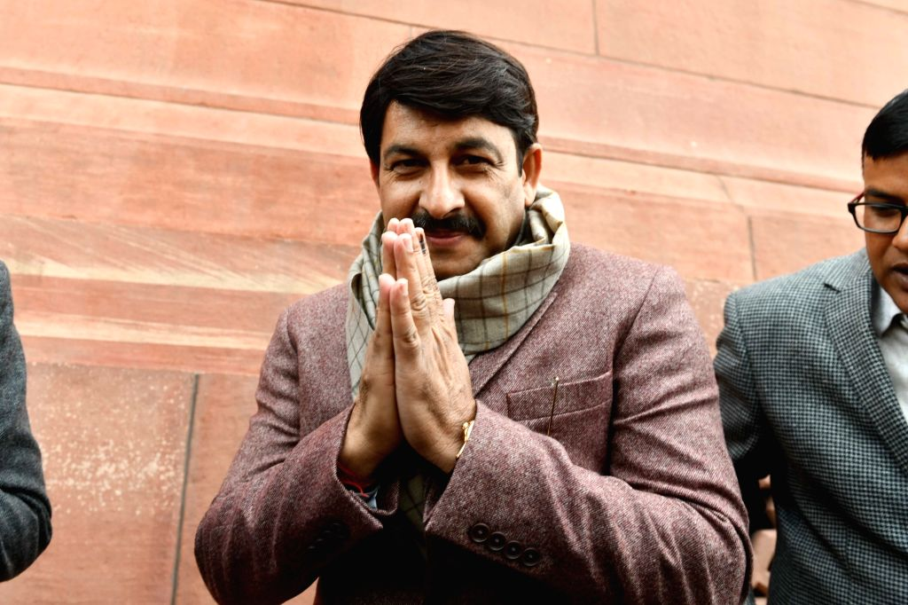 BJP MP Manoj Tiwari at Parliament during the Budget Session, in New Delhi on Feb 10, 2020.