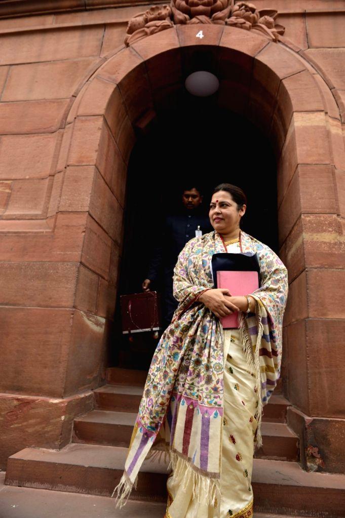 BJP MP Meenakshi Lekhi at the Parliament in New Delhi, on Dec 9, 2015.
