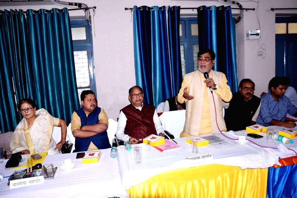 BJP MP Ram Kripal Yadav addresses a meeting of Patna Municipal Corporation, on Nov 15, 2019. - Kripal Yadav