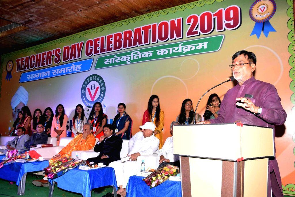 BJP MP Ram Kripal Yadav addresses during a programme organised on the eve of Teachers' Day in Patna on Sep 4, 2019. - Kripal Yadav