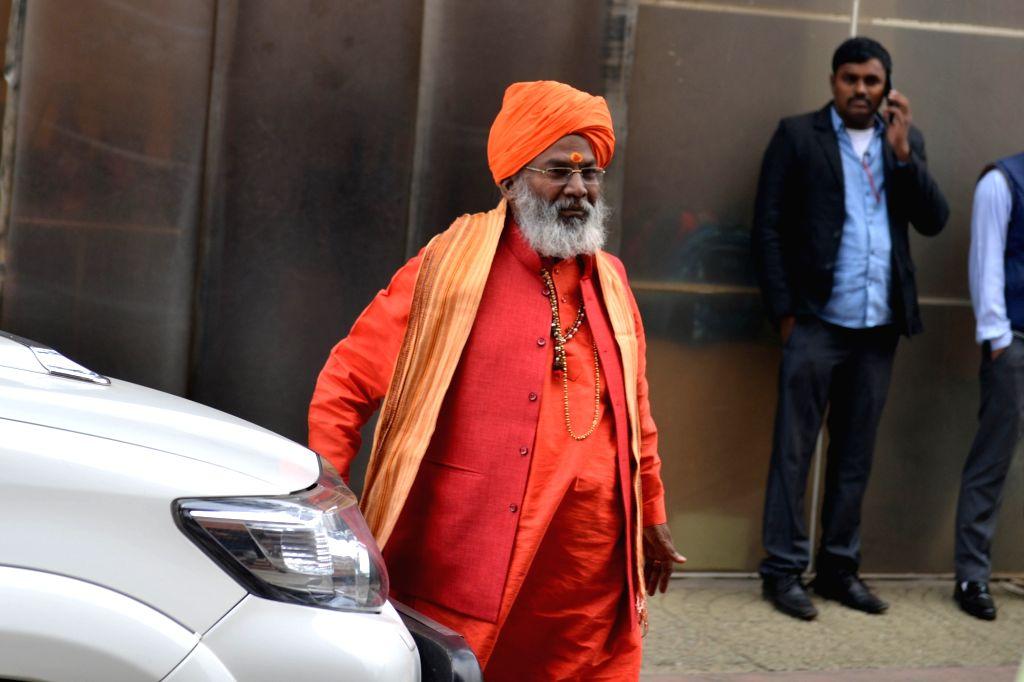 BJP MP Sakshi Maharaj at Parliament in New Delhi on Dec 12, 2019.