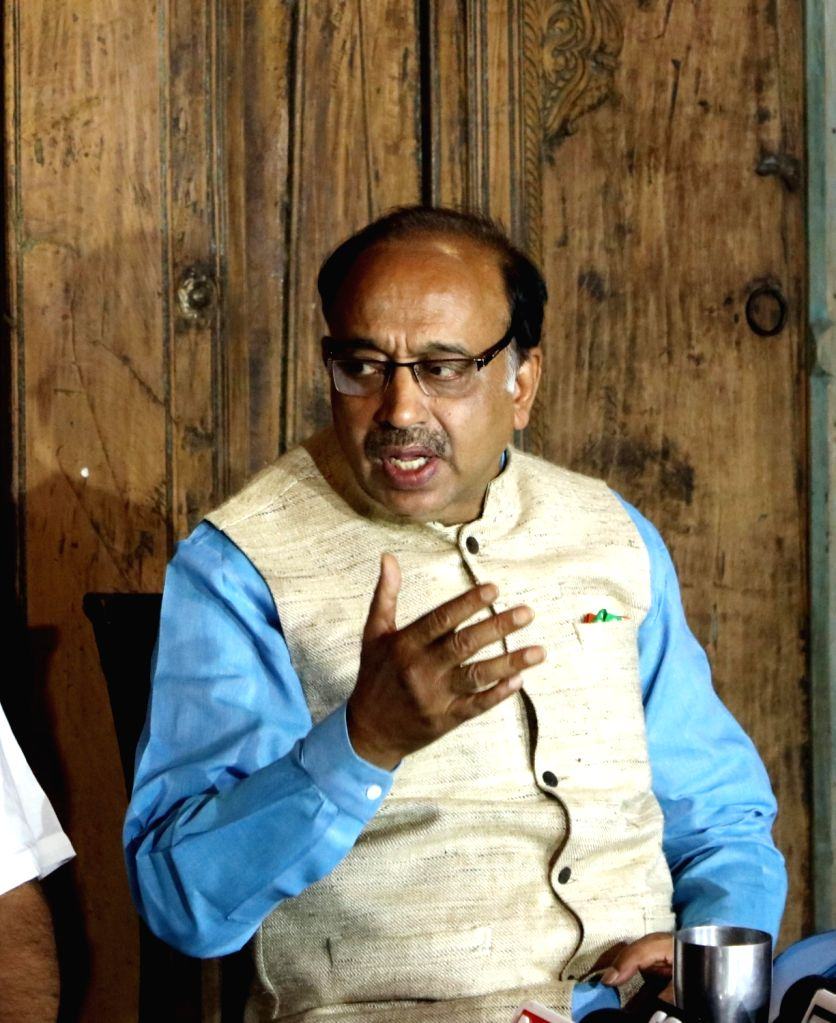 BJP MP Vijay Goel addresses a press conference to demand removal of North MCD Commissioner PK Gupta in new Delhi, on June 28, 2016.