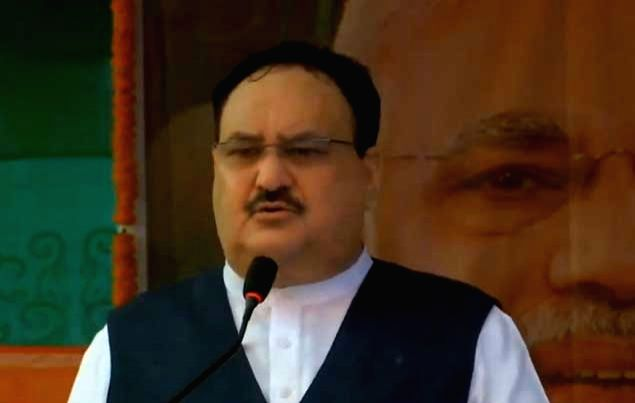 BJP National President JP Nadda addresses Litchi agriculturists and women farmers in Bihar's Saraiya on Sep 12, 2020.