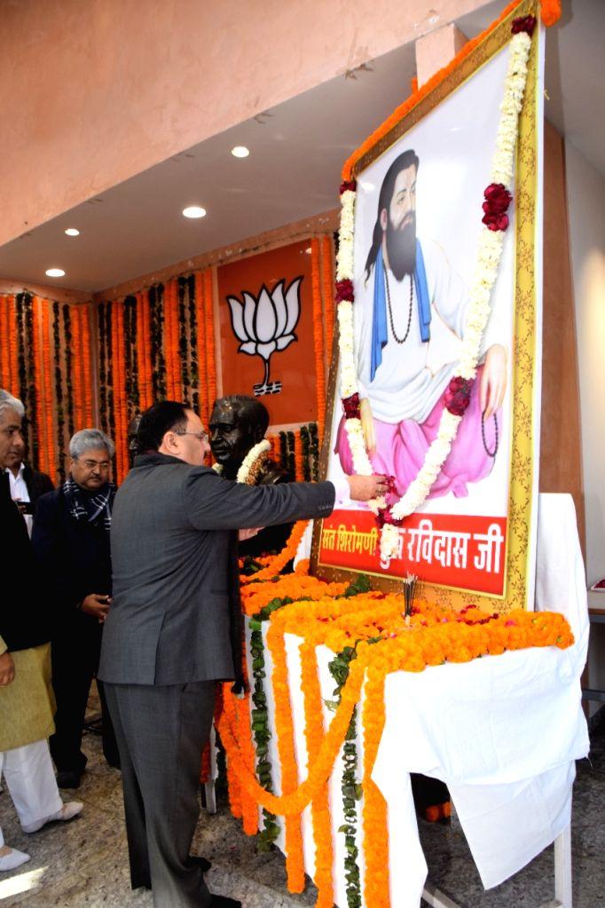 BJP National President JP Nadda pays tributes to saint Ravi Das on Ravi Das Jayanti. Bahujan Samaj Party chief Mayawati on Sunday slammed BJP and Congress over celebrating Ravi Das Jayanti. Calling it a drama she criticised both the parties for using