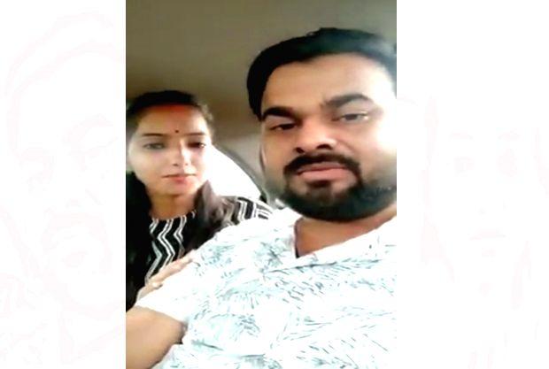 BJP's Bareilly MLA Rajesh Misra's daughter with Sakshi and her husband Ajitesh Kumar. - Ajitesh Kumar