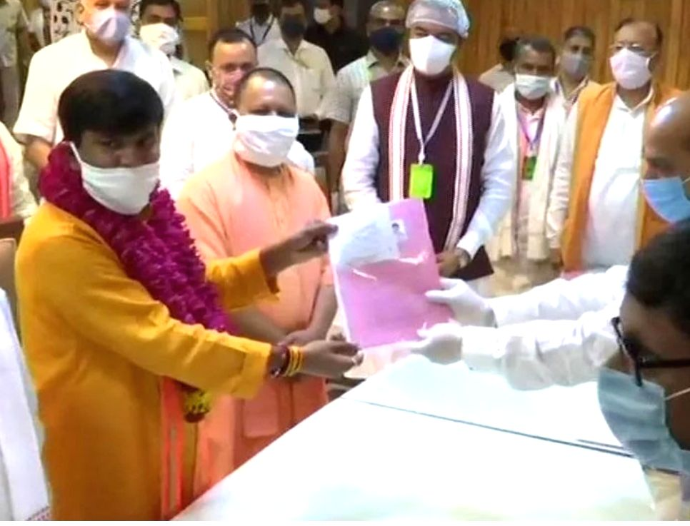 BJP's Jai Prakash Nishad files nomination for Rajya Sabha bypoll.