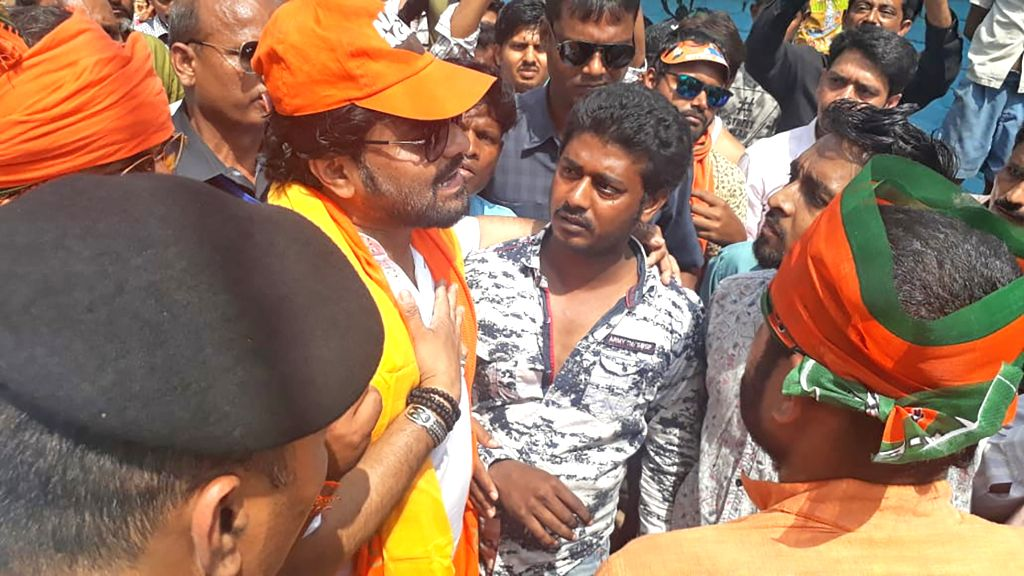 BJP's Lok Sabha candidate from Asansol, Babul Supriyo who was heckled by locals during an election campaign ahead of 2019 Lok Sabha polls, at Asansol in West Bengal's Burdwan on April 9, ...
