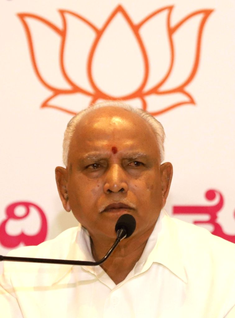 BJP State President B. S. Yeddyurappa addresses a press conference in Bengaluru, on March 13, 2019.