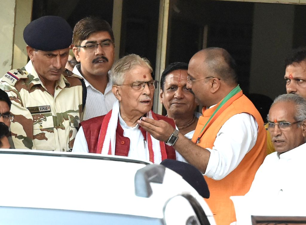 BJP veteran Murli Manohar Joshi arrives to appear before a special CBI court in connection with the 1992 Babri Masjid case in Lucknow, on May 30, 2017. - Murli Manohar Joshi