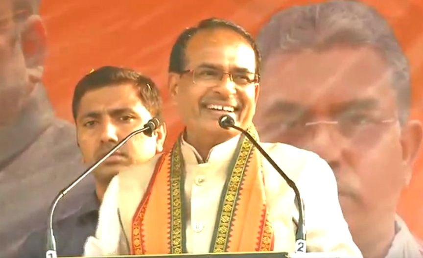 BJP Vice President Shivraj Singh Chouhan addresses during a party rally at Kharagpur in West Midnapore district of West Bengal, on Feb 6, 2019. - Shivraj Singh Chouhan