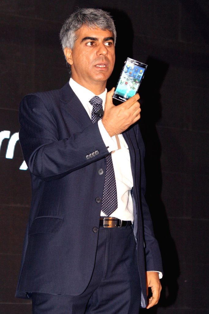 BlackBerry India MD Sunil Lalvani during launch of Z3 - a Z series smartphone in New Delhi on June 25, 2014.