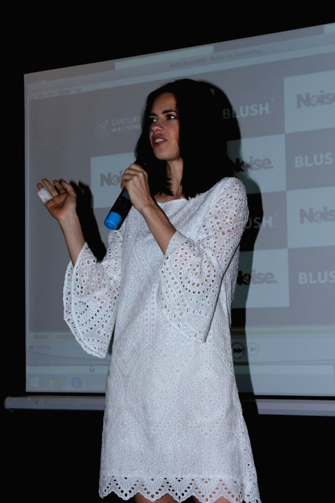 Blush Host A Special Preview Of Noise With actress Kalki Koechlin in Mumbai, on June 20, 2017. - Kalki Koechlin