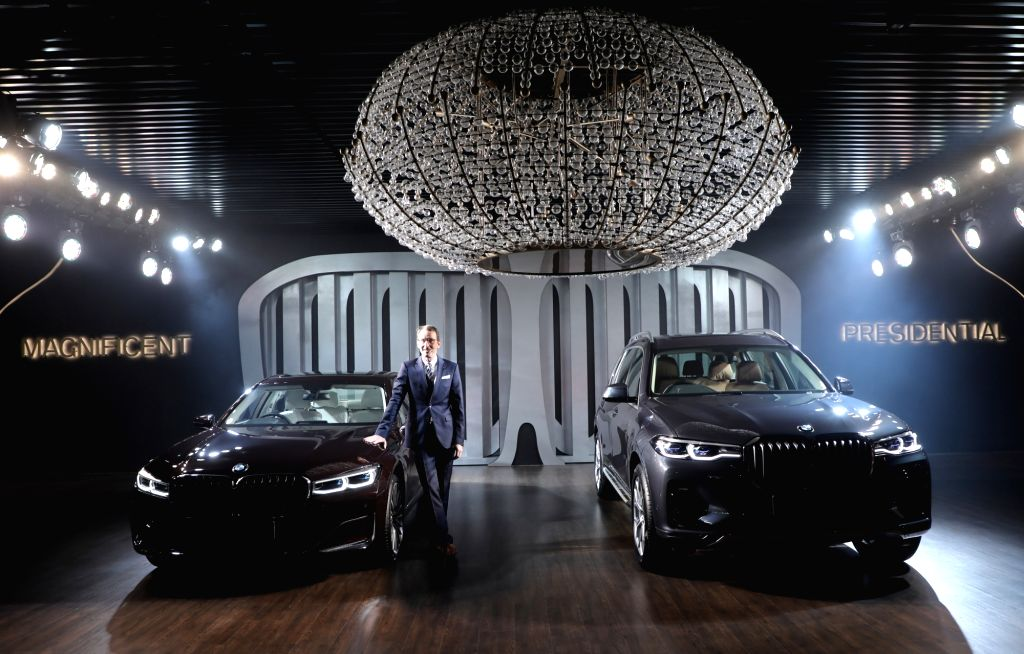 BMW Group India President Hans-Christian Baertels at the launch of BMW 7 and X7, in Gurugram on July 25, 2019.