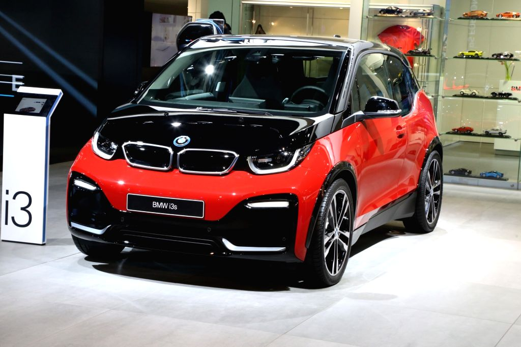 BMW's i3 at the Auto Expo 2018 in New Delhi on Feb 7, 2018.
