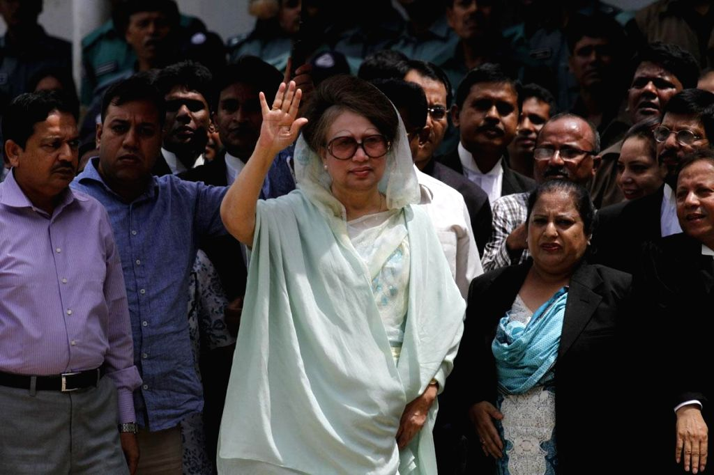 BNP Chairperson Khaleda Zia arrives at Dhaka court to appear in the 'Zia Orphanage Trust' and 'Zia Charitable Trust' graft cases in Bangladesh.