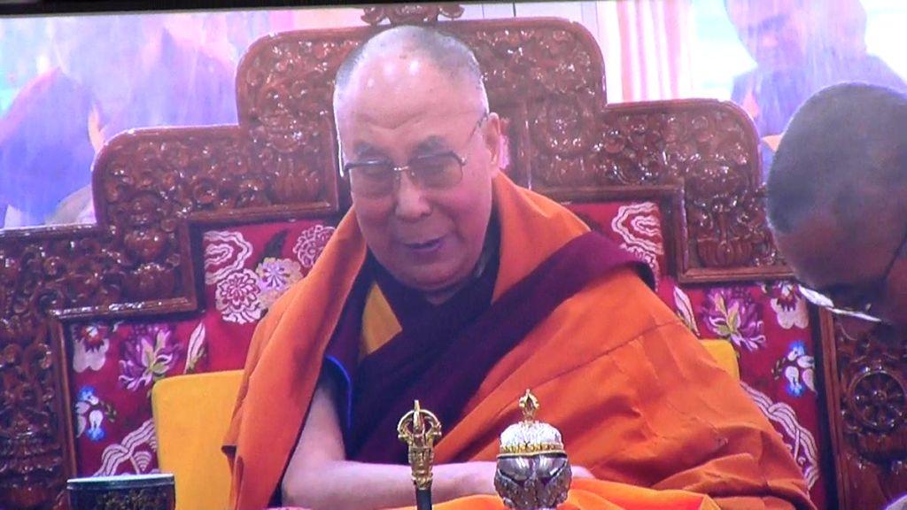 Bodh Gaya: Tibetan spiritual leader Dalai Lama during Kalachakra in Bodh Gaya on Jan 13, 2017.