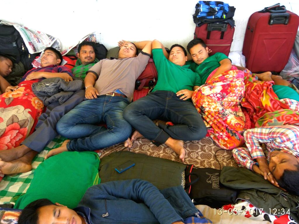 Bodo Communities on fourth day of their Hunger strike at Kokrajhar. They have denied medical help for their deteoriating Condition