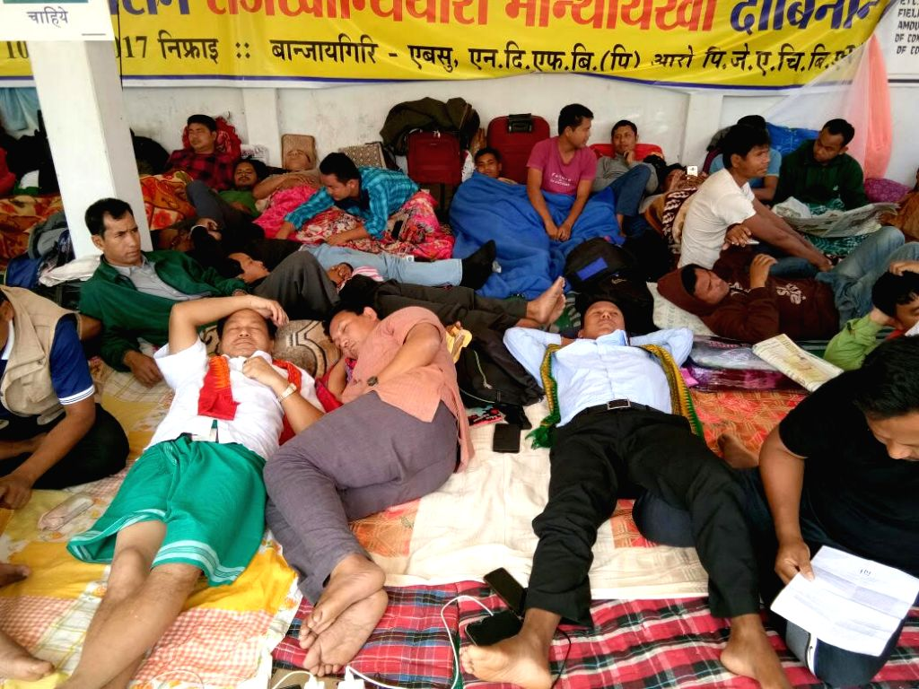 Bodos on their third day of the hunger strike, demanding Bodoland.