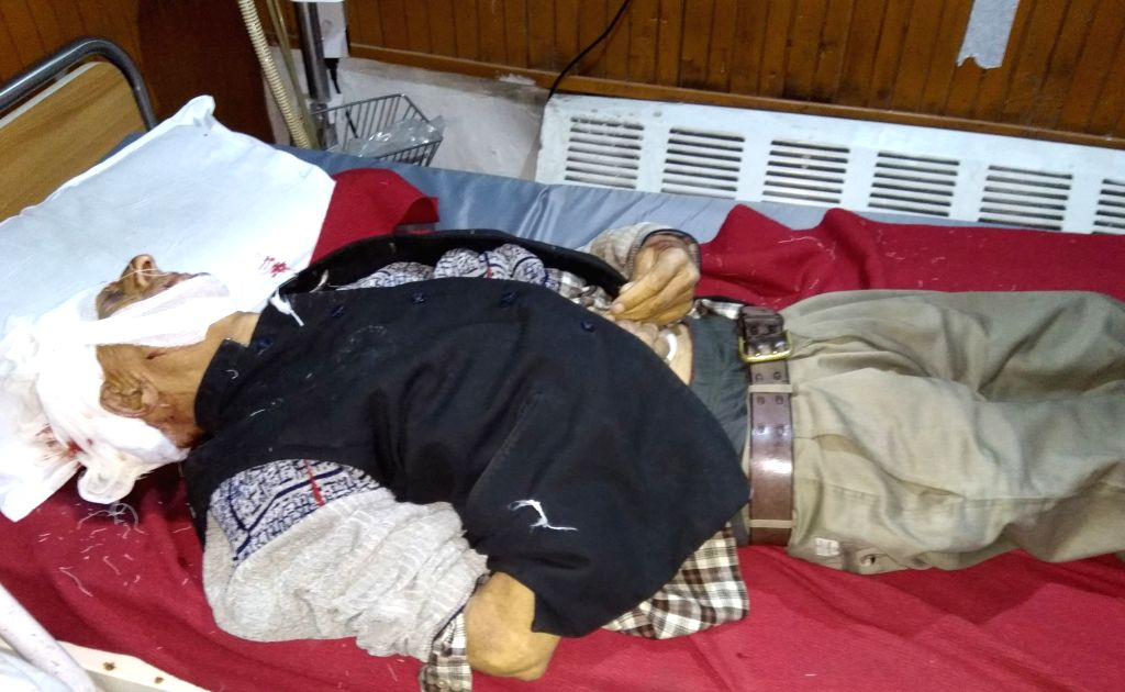 Body of the civilian who was killed in Srinagar grenade blast on April 30, 2017. A civilian was killed and four others - two civilians and two policemen - were injured in the blast after ...