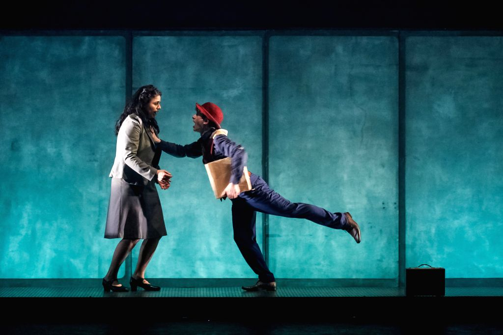 """Artists participate in the rehearsal of the """"Missing"""" play of British company Gecko Theater, previous to their presentation in the 14th Bogota's ..."""