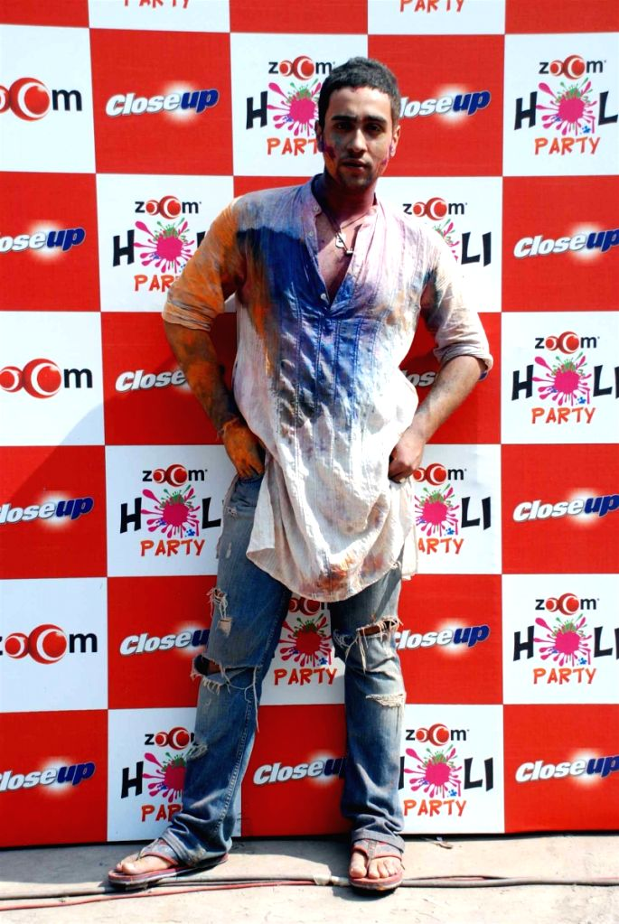 Bollywood actor Adhyayan Suman at Zoom Holi bash.