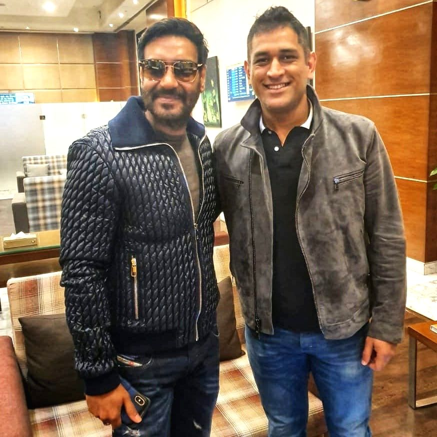 Bollywood actor Ajay Devgn met Former India captain M.S. Dhoni and said that cricket and films are the uniting religion of India. Ajay on Thursday morning shared a photograph of himself on Twitter ... - Ajay Devgn