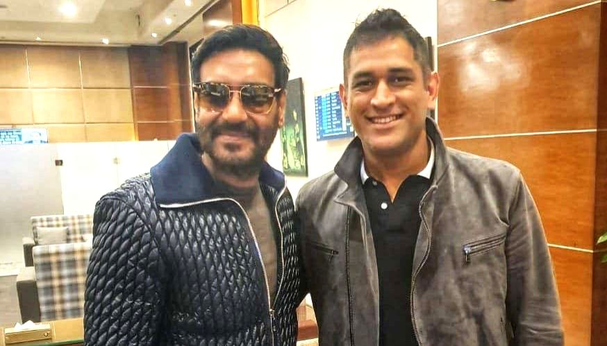 Bollywood actor Ajay Devgn met Former India captain M.S. Dhoni and said that cricket and films are the uniting religion of India. Ajay on Thursday morning shared a photograph of himself on Twitter posing with Dhoni. - Ajay Devgn